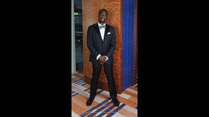 Ravens cornerback Lardarius Webb wore a custom-made tuxedo and Christian Louboutin black patent leather loafers covered in black spikes and a Super Bowl ring.