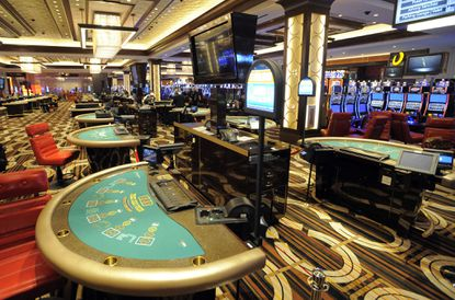 The casino floor at the Horseshoe Casino Baltimore. Altogether, Maryland casinos or affiliated companies have sent more than two dozen lobbyists to Annapolis as the General Assembly considers measures to legalize gambling on sporting events.