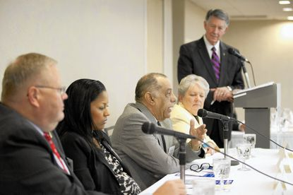 Delegate Frank Turner speaks during the Howard County Chamber of Commerce 2014 Legislative Breakfast at the Double Tree by Hilton in Columbia on Nov. 18, 2014.