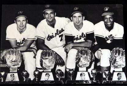 Third baseman Brooks Robinson, shortstop Mark Belanger, second baseman Davey Johnson and center fielder Paul Blair all won the Gold Glove Award in 1969.
