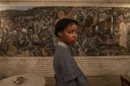 "Thuso Mbedu plays Cora, a runaway slave, in ""The Underground Railroad."" Photo credit: Kyle Kaplan/Amazon Studios"