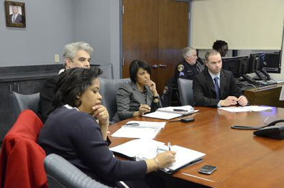 Mayor Stephanie Rawlings-Blake, at center-right, is shown in this file photo.