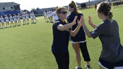 Coach Lauren Skellchock has the Mount St. Mary's women's lacrosse team off to its best start since 1998 at 8-2.