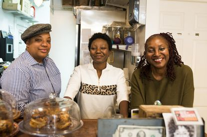 Dovecote owners (from left) Cole, Aisha and Gilda Pew.