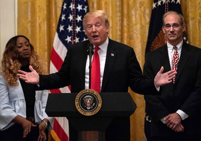 <p>President Donald Trump offered condolences to the victims of the shooting at the Capital Gazette.</p> <p>&nbsp;</p>