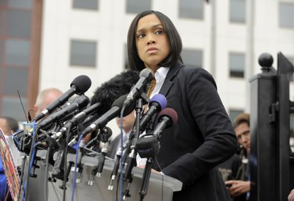 Baltimore State's Attorney Marilyn Mosby announces charges on May 1 against six police officers involved in the arrest of Freddie Gray, a 25-year-old man who died after being injured while in police custody