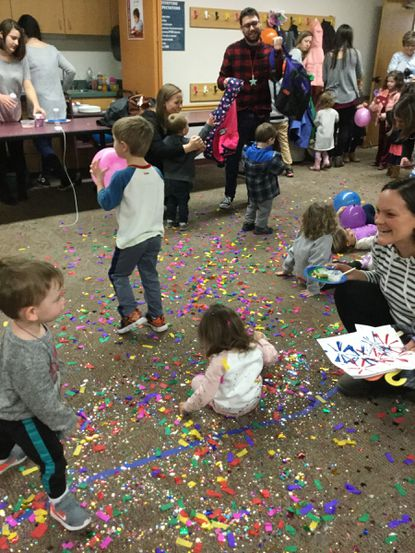 On Dec. 31 the Eldersburg branch library is hosting its annual New Year's at Noon program, pictured last year, to celebrate the beginning with a new decade. - Original Credit: Courtesy photo
