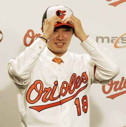 Pitcher Tsuyoshi Wada did not take the field with the Orioles on Sunday. He apparently came up sore after Saturday's workout, but club officials have not yet given any specific information on his condition.