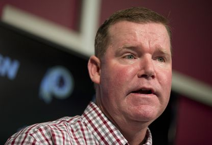 General manager Scot McCloughan speaks during a news conference at Redskins Park in Ashburn, Va. The Redskins fired McCloughan on the opening day of NFL free agency. Team president Bruce Allen announced the firing Thursday, March 9, 2017.