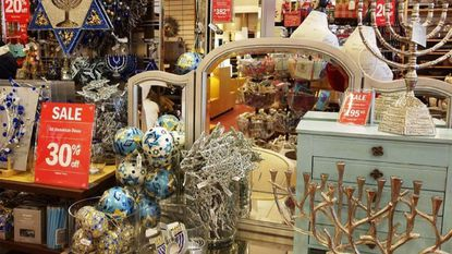 Though there are exceptions, most retailers only stock a few shelves of Hanukkah goods — a splash of blue-and-white inventory in a sea of red and green.