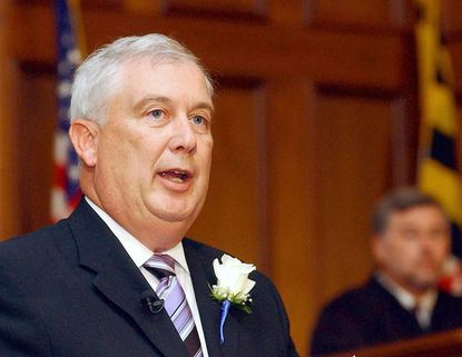 David Craig is shown shortly after he was sworn in as Harford County executive on July 7, 2005. On Monday, Craig became the first person to hold the post to serve beyond eight years.