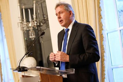 WASHINGTON, DC - JANUARY 18: British Ambassador Kim Darroch speaks at an Afternoon Tea hosted by the British Embassy to mark the U.S. Presidential Inauguration at The British Embassy on January 18, 2017 in Washington, DC. (Photo by Paul Morigi/Getty Images)