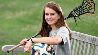 Julia Dorsey, of Towson, who will be a senior this fall at McDonogh, has earned a scholarship to play both lacrosse and soccer at North Carolina.