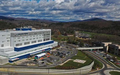Allegany County's hospital, UPMC Western Maryland in Cumberland, is not among the hospitals that the Maryland Department of Health determined would receive an initial allotment of the first batch of coronavirus vaccines. The hospital is shown on Nov. 18, 2020.