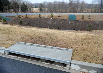 Storm water management pond area near the entrance to the newly constructed area of the Churchville Parks and Recreation area along Rt. 155.