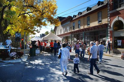 Main Street, Sykesville, is shown during the town's art and wine festival. Sykesville is a quarterfinalist in America's Main Street Contest.