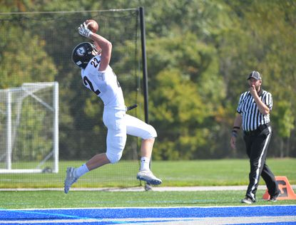 Tight end Zach Szyzybor and Archbishop Curley grabbed the No. 14 spot in this week's poll thanks to their fourth straight victory, a lopsided win over Gilman on Saturday.