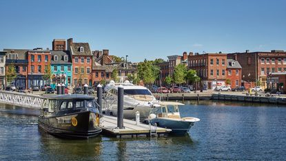 The docks at Sagamore Pendry Baltimore in Fells Point.