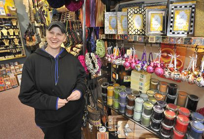 """Beth Hawks, who owns Zelda Zen, a Federal Hill boutique with jewelry and other items for """"body and home,"""" discusses the challenge of raising the capital needed to stock holiday inventory."""