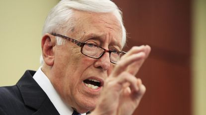 House Minority Whip Steny Hoyer, D-Md., speaks during a news conference about the tax cut on Capitol Hill in Washington, Friday, June 22, 2018. (AP Photo/Manuel Balce Ceneta)