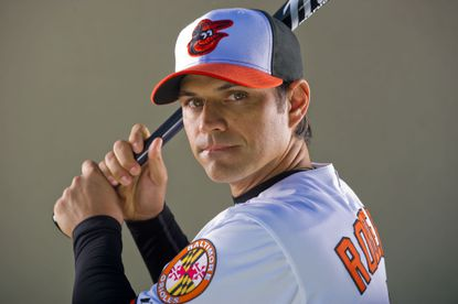 Baltimore Orioles infielder Brian Roberts poses for a portrait at the Sarasota Sports Complex Thu, Mar. 1, 2012.