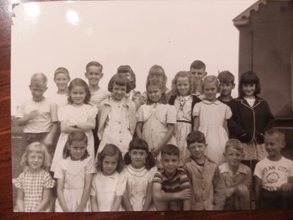Participants in Oakland United Methodist Church's vacation Bible school are pictured in the 1950s.
