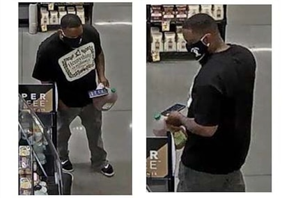 Baltimore County Police are investigating two incidents involving an unknown substance being sprayed on women while shopping. Police are seeking the identity of a man for his involvement in these two incidents.