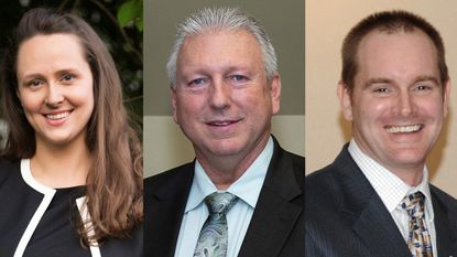 (Left to Right) Republican State Del. Lauren Arikan, Democrat State Del. Steve Johnson and Republican State Sen. Jason Gallion were elected to their first terms in November.