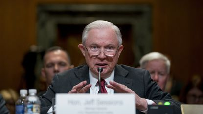 Attorney General Jeff Sessions speaks at a Senate Appropriations subcommittee on the Department of Justice's budget on Wednesday in Washington.