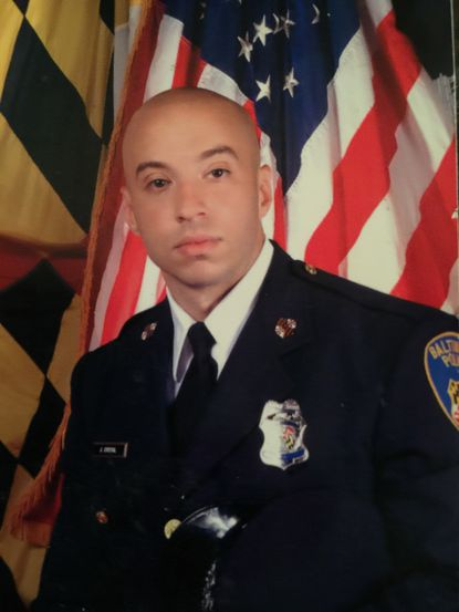 Joseph Crystal spent six years in the Coast Guard before joining the Police Academy, where he led his class and received the Commissioner's Award.