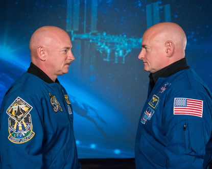 Scott Kelly, left, and his twin brother, Mark Kelly, were the subject of a study as Scott spent a year in space and Mark remained on Earth.