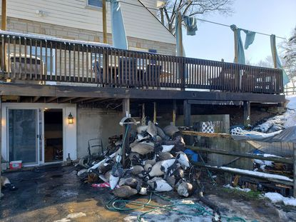 Discarded fireplace ashes sparked a fire that caused approximately $2,000 to a house in the 800 block of Federal Hill Road in Street, according to the Office of the State Fire Marshal.