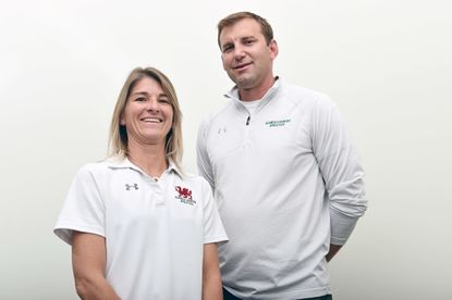 All-Metro Girls Lacrosse Coaches of the Year Paige Walton, left, and Brian Reese, of Glenelg Country.