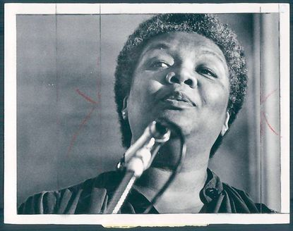 Lucille Clifton, poet laureate of Maryland and National Book Award winner, on Oct. 22, 1981.