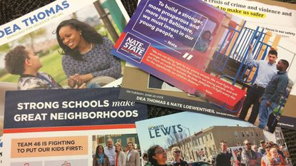 From mailboxes to doorways, billboards to yard signs, Southeast Baltimore's 46th District has been flooded with the image and name of many candidates, but especially one: Nate Loewentheil.