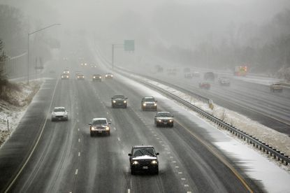 Cars travel on Route 29 in Ellicott City, MD on Tuesday, January 21, 2014.