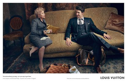 Former Russian gymnast Larisa Latynina and swimmer Michael Phelps were photographed for Louis Vuitton.