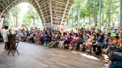 Last year's festival headliner, author Chimamanda Ngozi Adichie, gave her talk at the festival's former location in Symphony Woods. This year Books in Bloom will be at the Columbia lakefront.