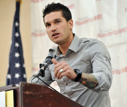 Former D.C. United midfielder warns Baltimore-area high school athletes of the perils of substance abuse, telling them about how drugs almost ruined his career and his life.