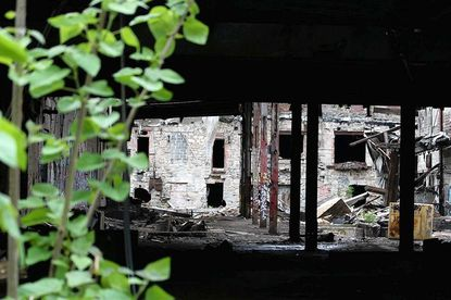 After two fires, the most recent of which was last December, the former Simkins Mill in western Catonsville is now abandoned and the subject of a letter from Baltimore County to its owners to either renovate or remove the buildings.