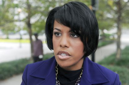 """""""There's a mix of emotions -- it's angry, it's frustrated, it's extreme sadness, particularly when we look at the fact that it's not outside invaders killing members of our community. It's us killing us."""" Mayor Stephanie Rawlings-Blake on wave of summer violence"""