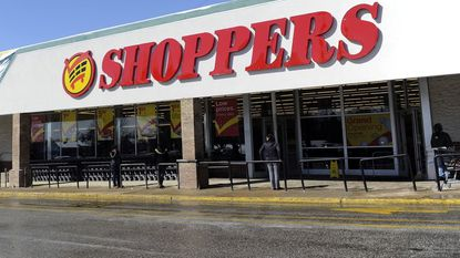 Thirteen Shoppers stores in Maryland and Virginia will be sold to other grocery operators, their parent company announced Friday, and four others will close by the end of January. The Shoppers in the Alameda Market Place in Baltimore is shown in this 2015 file photo.