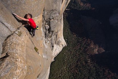 """""""Free Solo"""" follows free soloist climber Alex Honnold as he takes on the 3,000-foot-tall El Capitan in Yosemite National Park with no rope. It will be shown at the Carroll Arts Center Friday, Jan. 10."""