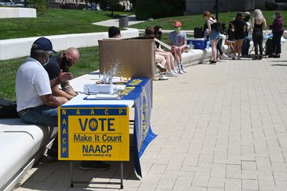 The Baltimore County chapter of the NAACP and the nonprofit We Are Gen Change encourage youth to vote in the fall elections on Aug. 26 in Towson.