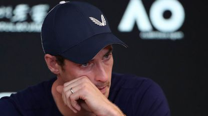 Andy Murray of Great Britain speaks during a press conference ahead of the 2019 Australian Open at Melbourne Park on January 11, 2019 in Melbourne, Australia.