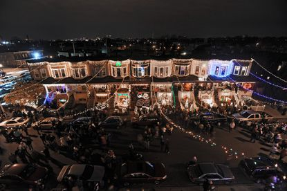By most accounts, the tradition of over-the-top holiday decor began in 1989 with Bob Hosier's plan to enhance his already elaborate display by stringing lights over the roadway, all the way down the block.