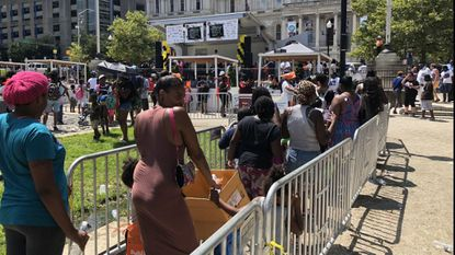 Mayor Pugh's annual back-to-school rally distributes around 3,200 free backpacks