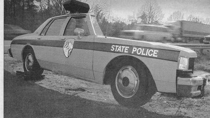 "In 1995, a Laurel company, Enforcement Concepts and Designs, introduced ""The Illusion,"" a lightweight cross-section of a marked police car to get motorists to slow down."