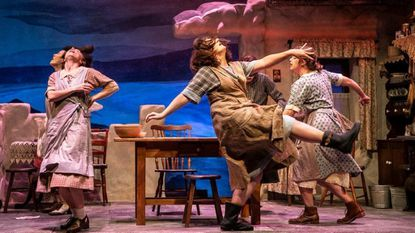 "Katie Kleiger, from left, Annie Grier, Labhaoise Magee, and Megan Anderson in ""Dancing at Lughnasa"" at Everyman Theatre."
