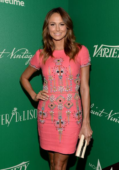 Actress Stacy Keibler attends the 2014 Variety Power of Women presented by Lifetime at Beverly Wilshire Four Seasons on October 10, 2014 in Los Angeles, California.
